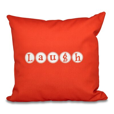 Darcy Laugh Throw Pillow Size: 26 H x 26 W, Color: Orange