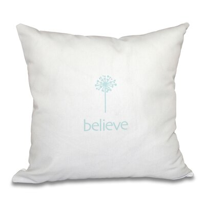 Miles City Make a Wish Throw Pillow Size: 16 H x 16 W, Color: Aqua