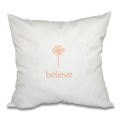 Miles City Make a Wish Throw Pillow Size: 26 H x 26 W, Color: Peach