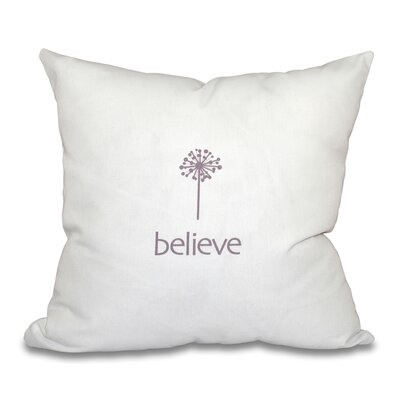 Miles City Make a Wish Throw Pillow Size: 26 H x 26 W, Color: Lavender