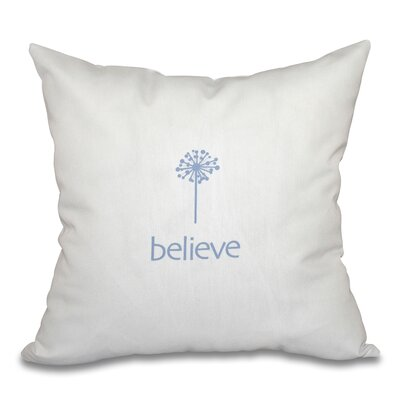 Miles City Make a Wish Throw Pillow Color: Blue, Size: 26 H x 26 W