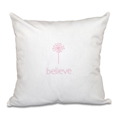 Miles City Make a Wish Throw Pillow Size: 18 H x 18 W, Color: Pink
