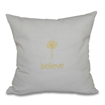 Miles City Make a Wish Throw Pillow Size: 26 H x 26 W, Color: Yellow