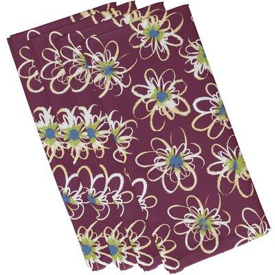 Cherry Floral Geometric Print Napkin