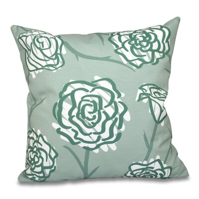 Grovetown Spring Floral 2 Outdoor Throw Pillow Size: 18 H x 18 W, Color: Green