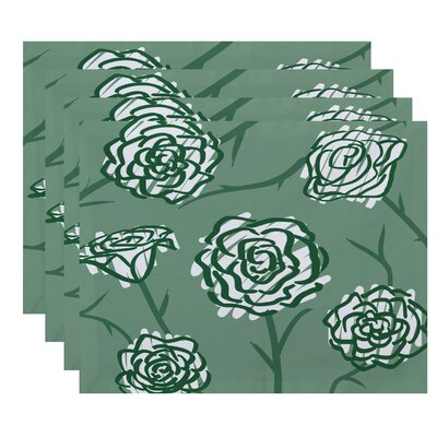 Superior Spring Floral 2 Placemat Color: Green