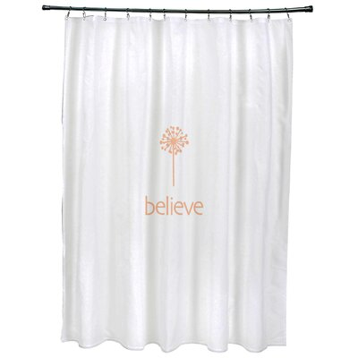 Dewey Make a Wish�Print Shower Curtain Color: Peach