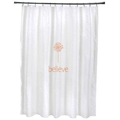 Dewey Make a Wish�Print Shower Curtain Color: Peach