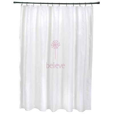 Dewey Make a Wish�Print Shower Curtain Color: Pink