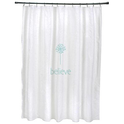Dewey Make a Wish�Print Shower Curtain Color: Aqua