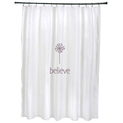 Dewey Make a Wish�Print Shower Curtain Color: Lavender