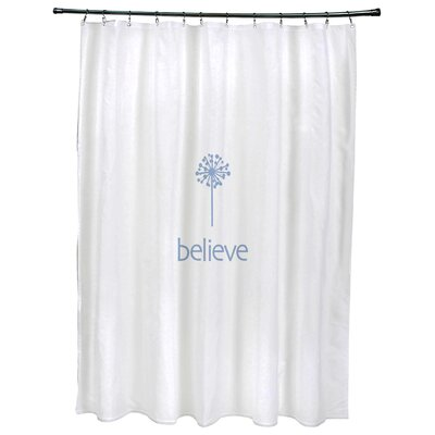 Dewey Make a Wish�Print Shower Curtain Color: Blue