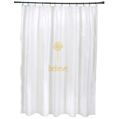 Dewey Make a Wish�Print Shower Curtain Color: Yellow