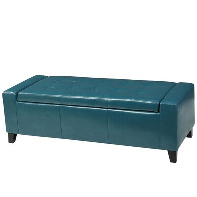 Dunnellon Storage Ottoman Upholstery: Teal