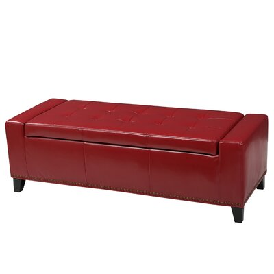 Austral Storage Ottoman Upholstery: Red