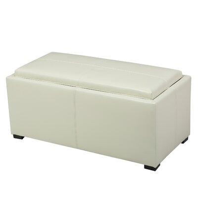 Kegan 3 Piece Lift Top Ottoman Set Upholstery: Ivory