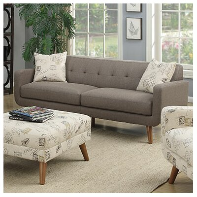 Latitude Run LTRN3193 28623954 Mid Century Modern Sofa with accent pillows
