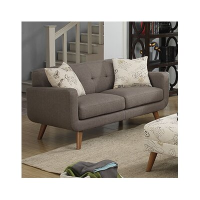 Loveseat Finish: Brown