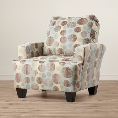 Mullins Accent Armchair Upholstery: Brown/Beige