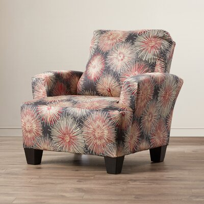 Mullins Accent Armchair Upholstery: Red/Grey/Beige