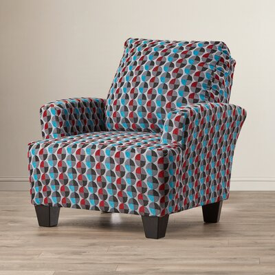 Mullins Accent Armchair Upholstery: Blue/Grey/Red