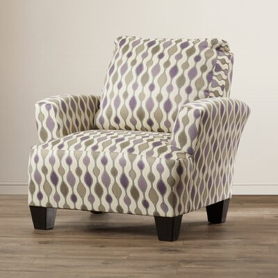 Mullins Accent Armchair Upholstery: Tan/Purple/Green
