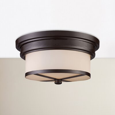 Raymond 2-Light Flush Mount Finish: Oiled Bronze