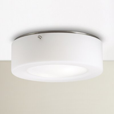 Belrose 2-Light Flush Mount Size / Bulb Type: 3.75H x 11.5 W/Incandescent