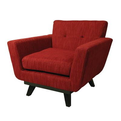 Dixie Armchair Color: Red