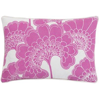 Oakdale Rectangular Lumbar Pillow Color: Hot Pink/Ivory
