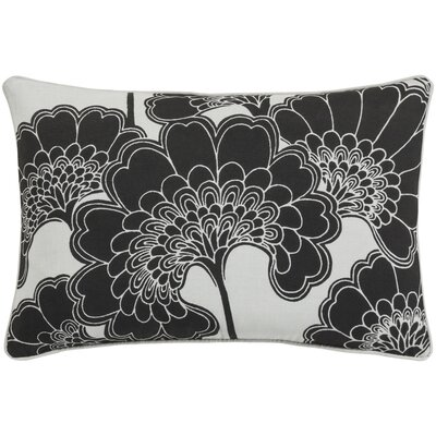 Oakdale Rectangular Lumbar Pillow Color: Black/Ivory