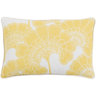 Oakdale Rectangular Lumbar Pillow Color: Lemon/Ivory