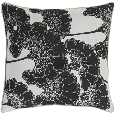 Oakdale Square Throw Pillow Size: 18 H x 18 W x 4 D, Color: Black/Ivory