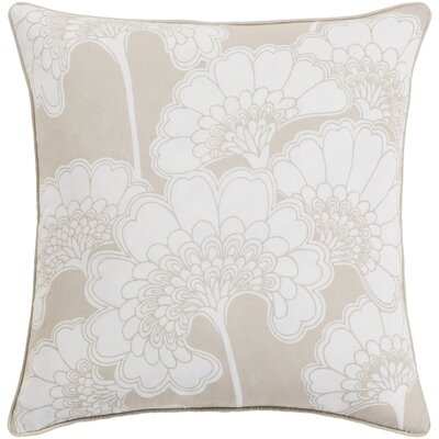 Oakdale Throw Pillow Size: 20 H x 20 W x 4 D, Color: Beige/Ivory