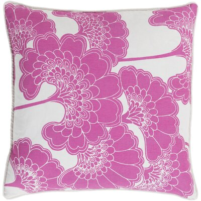 Oakdale Throw Pillow Size: 22 H x 22 W x 4 D, Color: Hot Pink/Ivory