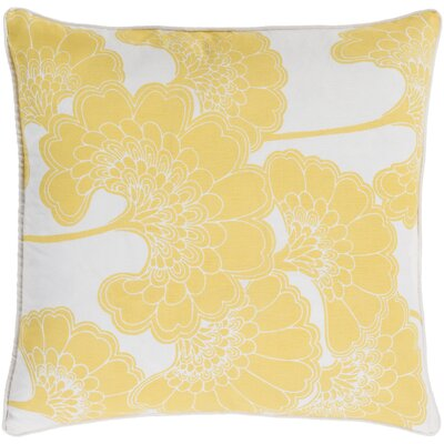 Oakdale Throw Pillow Size: 22 H x 22 W x 4 D, Color: Lemon/Ivory