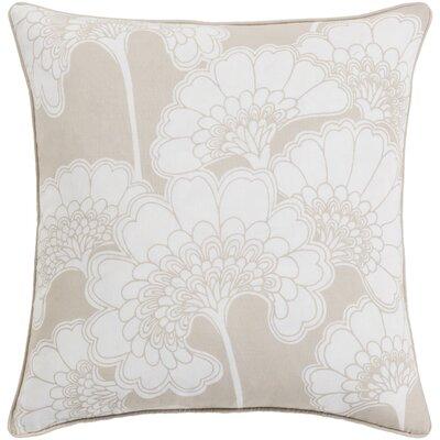 Karratha Throw Pillow Color: Beige/Ivory, Size: 22 H x 22 W x 5 D