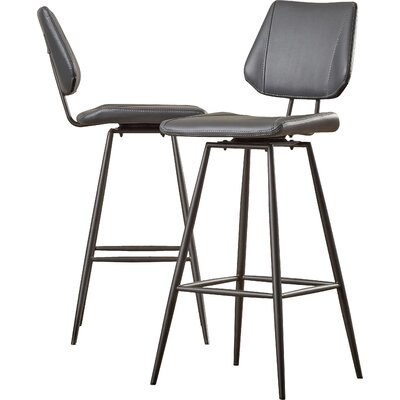 Loganville 30 Swivel Bar Stool (Set of 2)