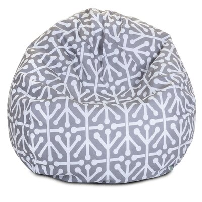 Medium Polyester Bean Bag Chair Upholstery: Gray