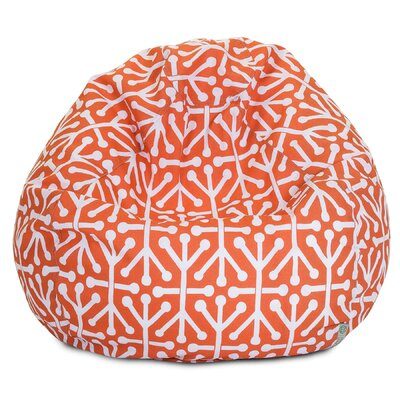 Medium Polyester Bean Bag Chair Upholstery: Orange