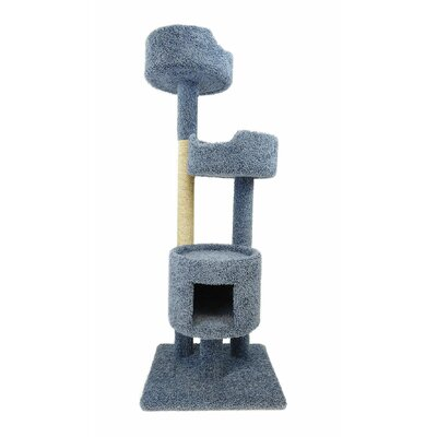 64 Cat Tree Color: Blue