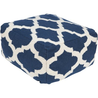 Zahara Lavish Lattice Pouf Upholstery: Cobalt
