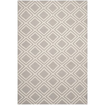 Brianna Grey/Ivory Area Rug Rug Size: Rectangle 6 x 9