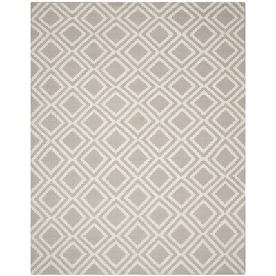 Brianna Grey/Ivory Area Rug Rug Size: Rectangle 8 x 10