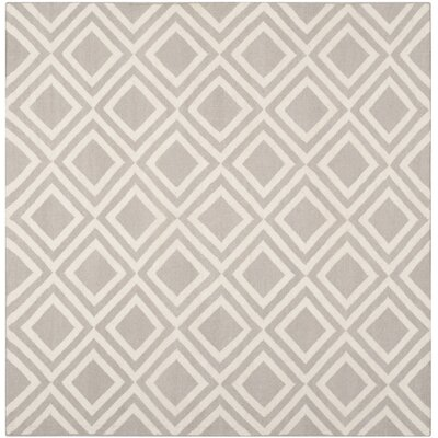 Brianna Grey/Ivory Area Rug Rug Size: Square 6