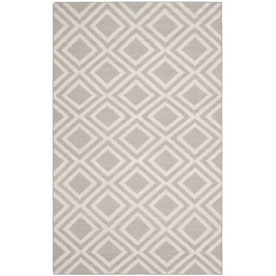 Brianna Grey/Ivory Area Rug Rug Size: Rectangle 5 x 8