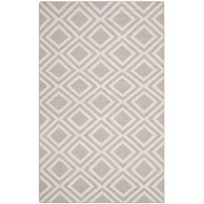 Brianna Grey/Ivory Area Rug Rug Size: 5 x 8