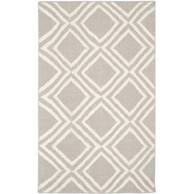 Brianna Grey/Ivory Area Rug Rug Size: Rectangle 3 x 5