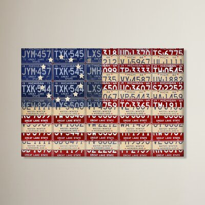 Betsy Ross Flag by Design Turnpike Graphic Art on Wrapped Canvas Size: 12