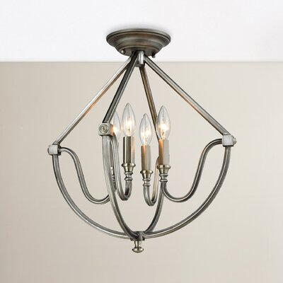 Clarke 4-Light Semi Flush Mount